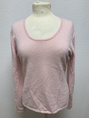 FTC Cashmere Pull en cashemire rose clair-crème