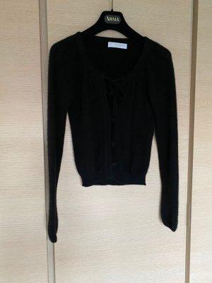 FTC Cashmere Sweater met korte mouwen zwart