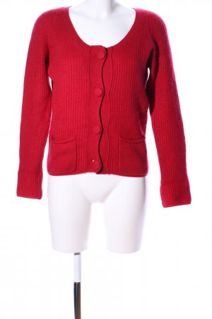 FTC Cashmere Cardigan rot Casual-Look