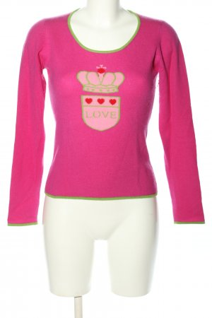 FTC Cashmere Cashmere Jumper pink themed print casual look