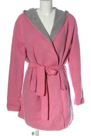 FTC Cashmere Manteau à capuche rose style décontracté