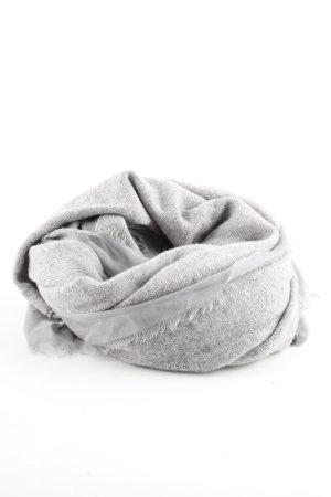 FTC Cashmere Écharpe en cachemire gris clair moucheté style décontracté