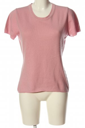 FTC Cashmere Short Sleeve Sweater pink casual look