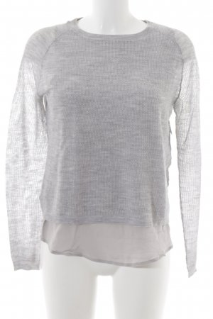 FTC Cashmere Sweater Twin Set light grey loosely knitted pattern fluffy