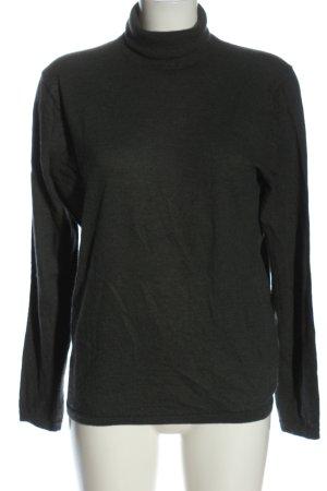 FTC Cashmere Turtleneck Sweater black flecked casual look