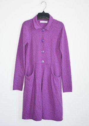 FTC Cashmere Strickkleid Kleid 100% Kaschmir Magenta Lila S Longpullover
