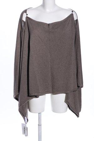 FTC Cashmere Poncho en tricot brun moucheté style décontracté