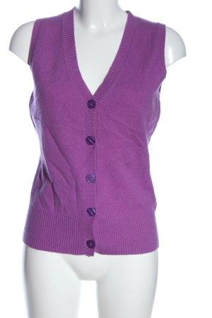 FTC Cashmere Smanicato lavorato a maglia lilla stile casual