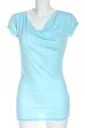 FTC Cashmere T-Shirt turquoise flecked casual look
