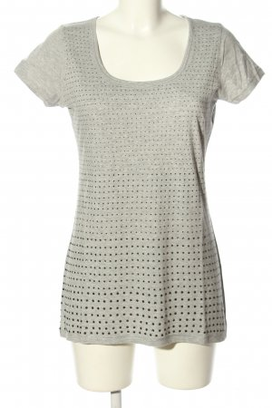 FTC Cashmere T-Shirt light grey flecked casual look