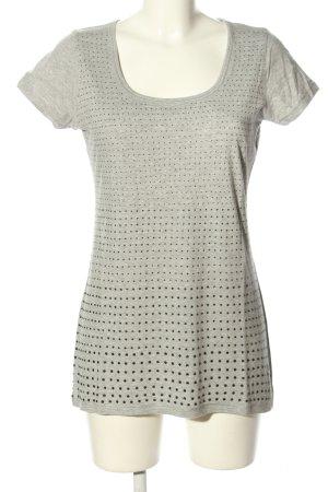 FTC Cashmere T-Shirt hellgrau-silberfarben meliert Casual-Look