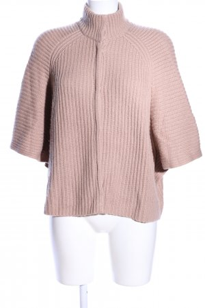 FTC Cashmere Wolljacke nude Zopfmuster Casual-Look