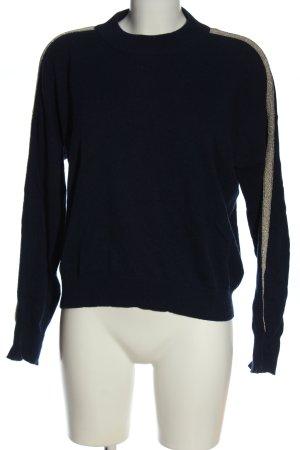 FTC Cashmere Jumper blue-gold-colored striped pattern elegant