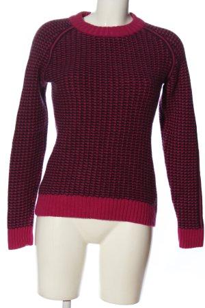 FTC Kaszmirowy sweter różowy-fiolet Na całej powierzchni W stylu casual
