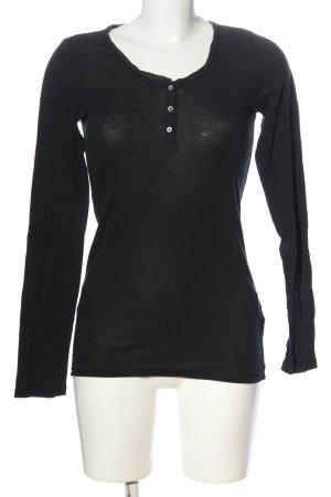 FTC Langarm-Bluse schwarz Casual-Look