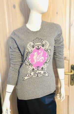 FTC Cashmere Kaszmirowy sweter jasnoszary-różany Kaszmir