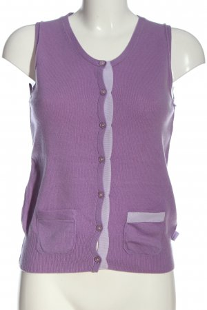 FTC Strickweste lila Casual-Look