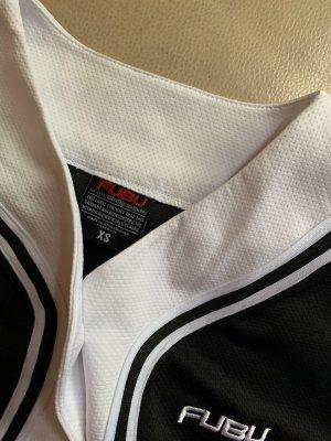FUBU Camicia a maniche corte nero-bianco Poliestere