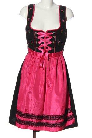 fuchs Dirndl schwarz-pink Elegant