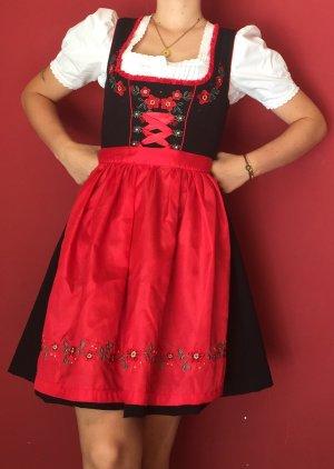 Fuchs Trachtenmoden Dirndl black-red