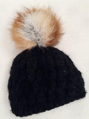 Fuchs mütze schwarz braun