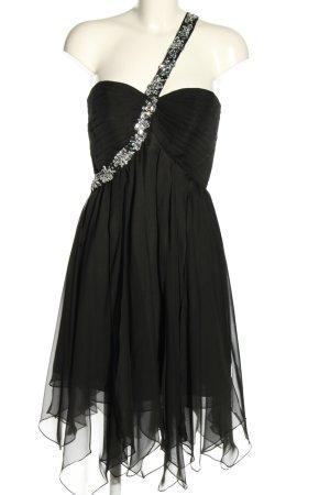 fuchs Vestido de un hombro negro elegante