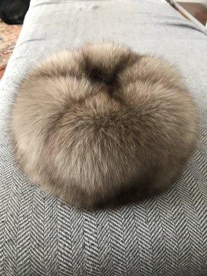 Fur Hat grey-dark brown