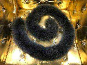 Sciarpa di lana talpa Pelliccia