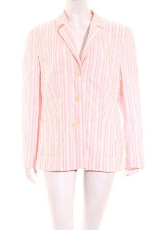 Fuchs Schmitt Blazer white-light pink striped pattern casual look