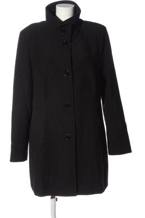 Fuchs Schmitt Długi płaszcz czarny W stylu biznesowym