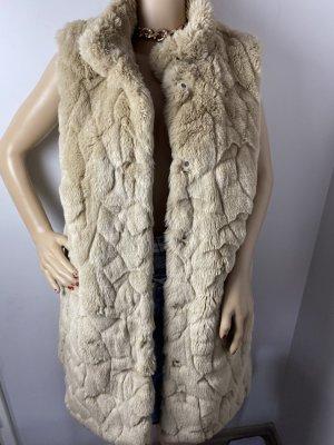 Fuchs Schmitt Fake Fur Vest gold-colored mixture fibre