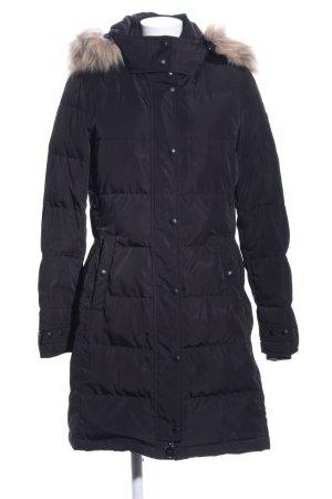 Fuchs Schmitt Manteau en duvet noir motif de courtepointe style décontracté