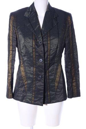 Fuchs Schmitt Jerseyblazer schwarz-bronzefarben Streifenmuster Business-Look