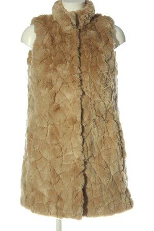 Fuchs Schmitt Fake Fur Vest brown abstract pattern elegant
