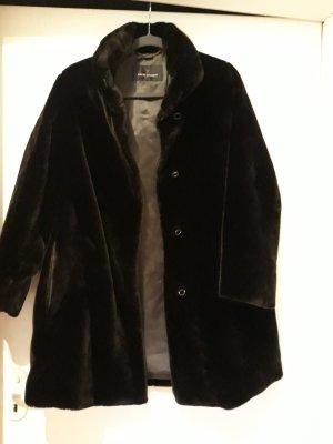 Fuchs Schmitt Cappotto in eco pelliccia marrone scuro