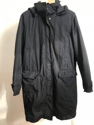 Fuchs Schmitt Manteau à capuche bleu foncé-noir