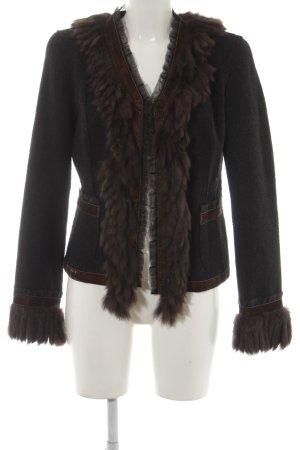 Fuchs Schmitt Wool Blazer black-dark brown elegant