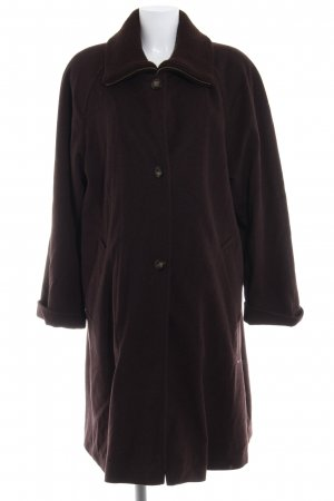Fuchs Schmitt Manteau en laine brun style décontracté