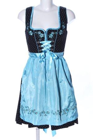 Fuchs Trachtenmoden Dirndl noir-bleu motif de tache style décontracté