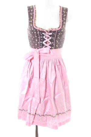 Fuchs Trachtenmoden Vestido Dirndl rosa-marrón estilo clásico