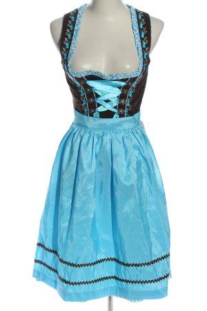 Fuchs Trachtenmoden Dirndl schwarz-blau Blumenmuster klassischer Stil
