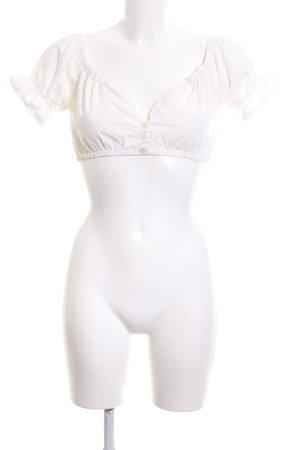 Fuchs Trachtenmoden Blusa tradizionale bianco stile casual