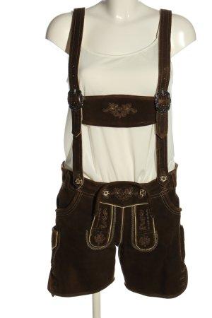 Fuchs Trachtenmoden Trachtenhose braun-creme Street-Fashion-Look