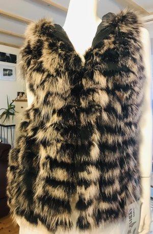 Axel Delikat Berlin Fur vest beige-dark brown