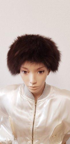Fur Hat black brown