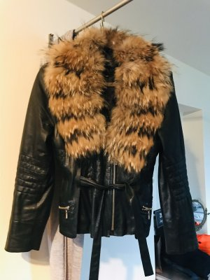 Fur Jacket black