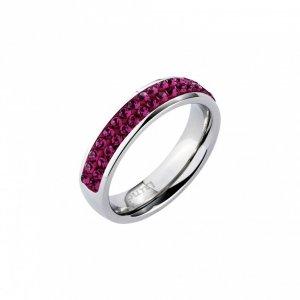 Fuchsiafarbener Ring von LUNA mit SWAROVSKI-Kristallen
