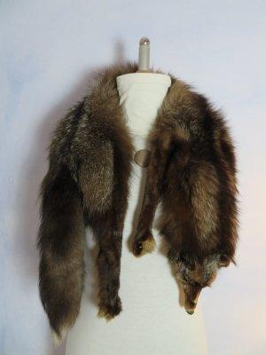 Fuchskragen Stola - Braun Fuchs - Pelz für Mantel - Pelzkragen S M L - Stola - Komplett Fuchsfell Pfoten Kopf Schwanz Rumpf - Vintage