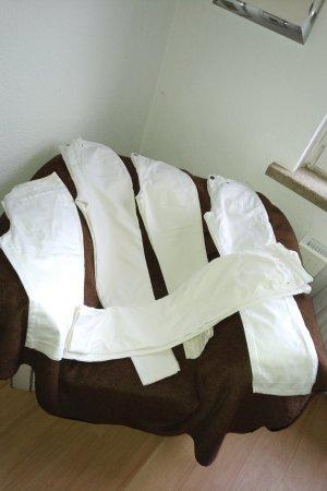 Alba Moda Pantalón elástico blanco Algodón