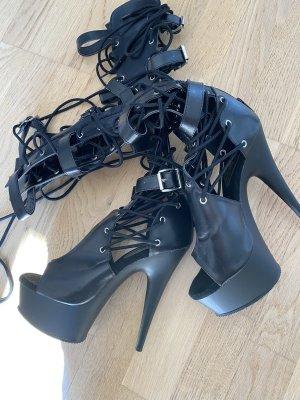 Pleaser Gotyckie buty czarny